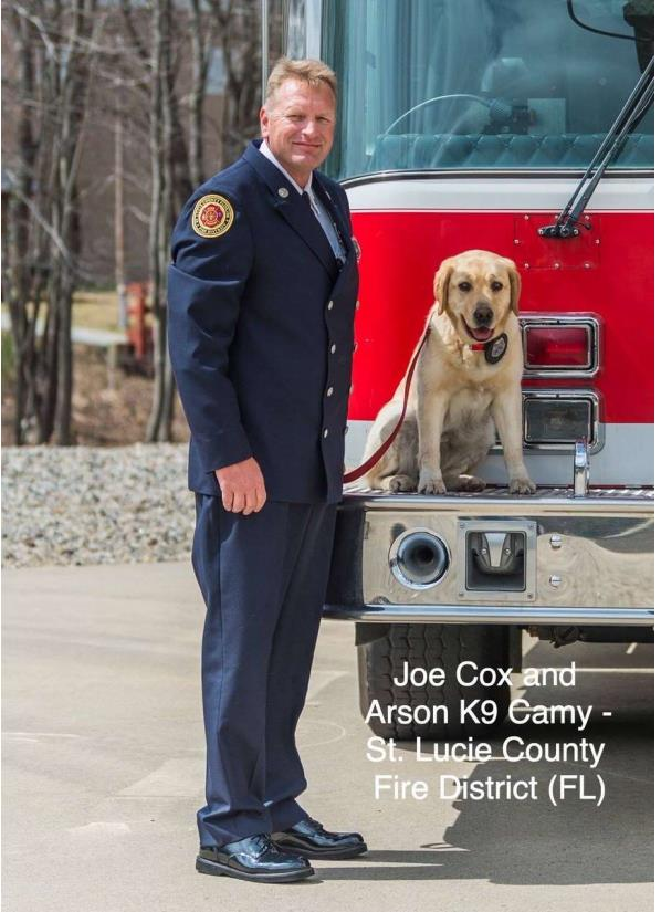 Camy Arson dog with trainer