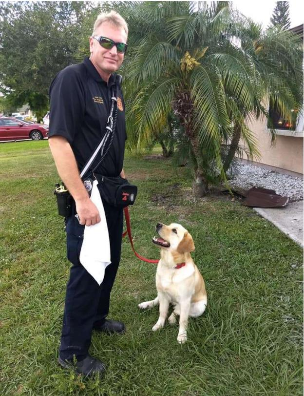 Camy Arson dog at work